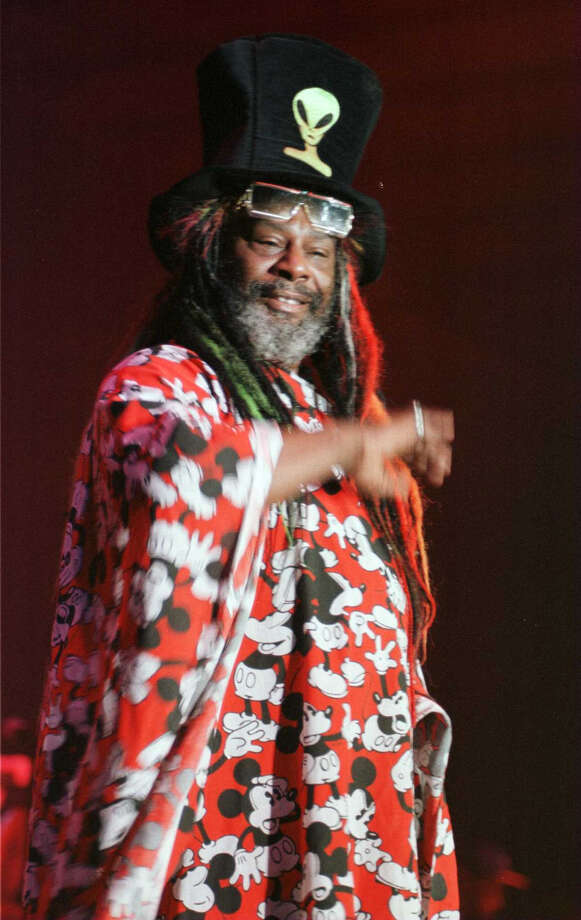 Times Union photo by Katherine Friedrich -- Funk Master, George Clinton, performs 3.5 hours of uncut funk to a sold out crowd at Skidmore College, April 20, 1996 Photo: KATHERINE FRIEDRICH, DG / ALBANY TIMES UNION