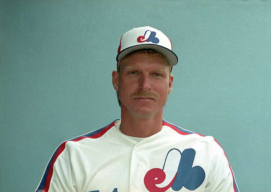 The late 80s Montreal uniform looks more suited to peddling ice cream than hurling fastballs. Oh, and by the way, this is from Randy Johnson's rookie year in 1988. You read that right. Rookie. Year. Photo: AP