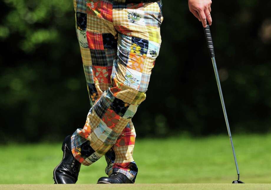 ... and these grandma's quilt-inspired pants. Photo: Stuart Franklin, Getty Images / Getty Images Europe