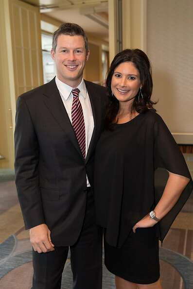 Travis and Lisa Pearson at the American Cancer Society's San Francisco Soiree on March 19, 2013.
