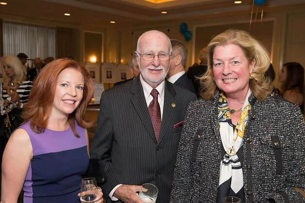 Elaine Asher, George Lucas and Laura King Pfaff at the American Cancer Society's San Francisco Soiree on March 19, 2013. Photo: Drew Altizer Photography