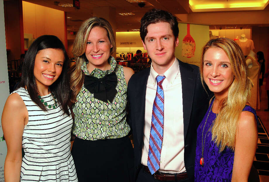 From left; Monica Abney, Bethany Buchanan, Chad Atlas and Katy Atlas Photo: Dave Rossman, For The Houston Chronicle / © 2013 Dave Rossman