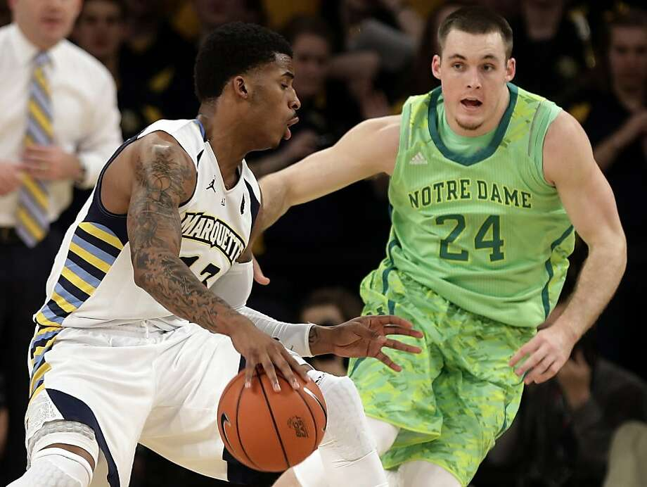 A closer look at Notre Dame's new Adidas uniform. Photo: Frank Franklin II, Associated Press