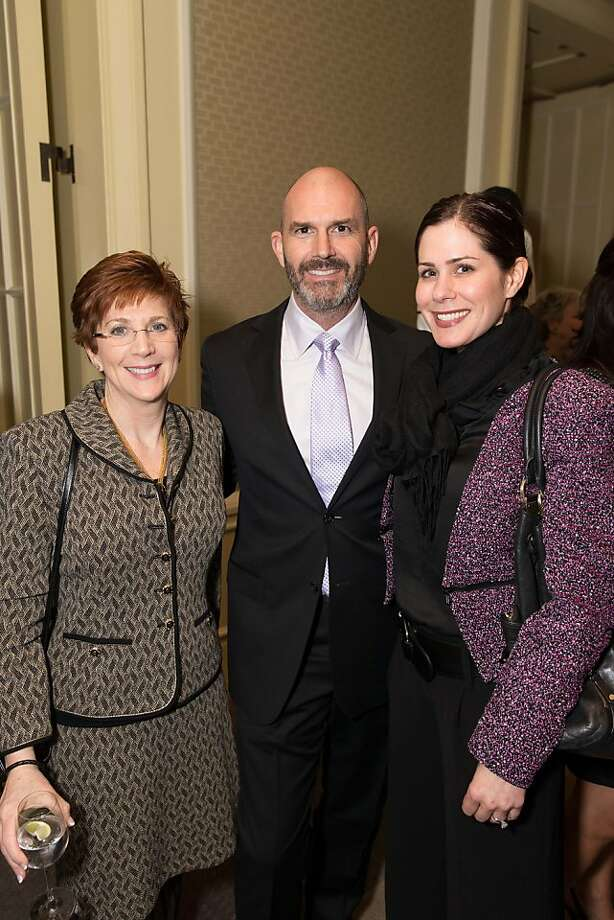 Jill Dolgin, Craig Burdsall and Lori Melancon at the American Cancer Society's San Francisco Soiree on March 19, 2013. Photo: Drew Altizer Photography