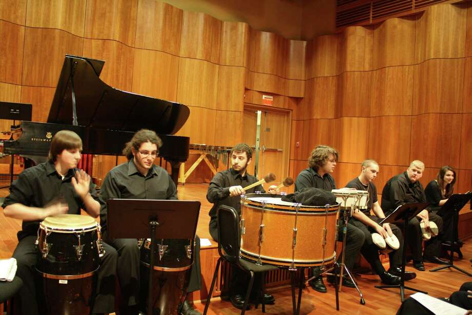 The College of Saint Rose Percussion Ensemble performs April 13, 2012, at the Massry Center for the Arts. (Courtesy Carolyn Stallard)