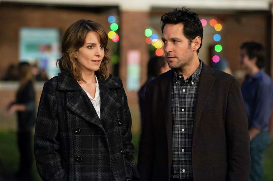 "Tina Fey and Paul Rudd star in ""Admission,"" a romantic-comedy-drama that opens Friday. Click here for more information. (AP Photo/Focus Features, David Lee) Photo: David Lee"