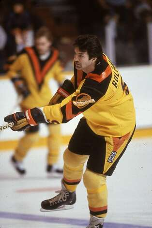 The Vancouver Canucks uniforms of the early 80's also doubled as traffic signs. Photo: Bruce Bennett Studios, Getty Images