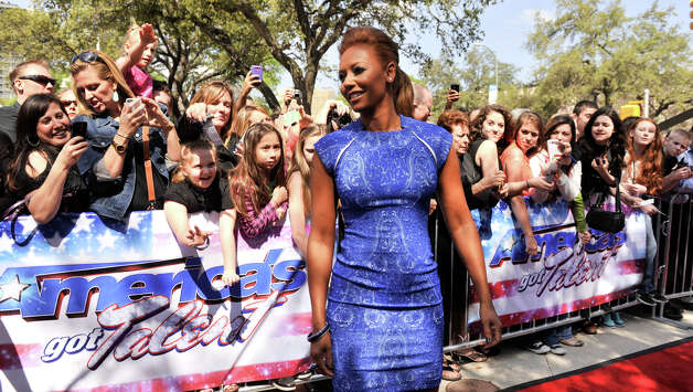 Mel B arrives on the red carpet in front of the Lila Cockrell Theater for a taping of the television show America's Got Talent Wednesday. Photo: Robin Jerstad