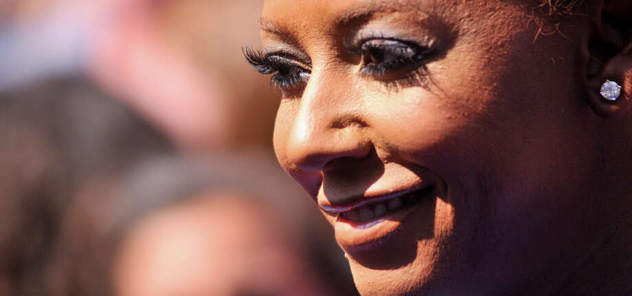Mel B. arrives on the red carpet in front of the Lila Cockrell Theater for a taping of the television show America's Got Talent Wednesday. Photo: Robin Jerstad