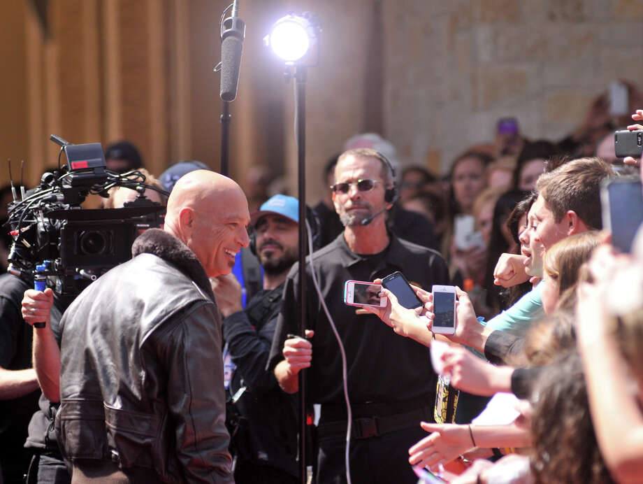 Howie Mandel arrives on the red carpet in front of the Lila Cockrell Theater for a taping of the television show America's Got Talent Wednesday. Photo: Robin Jerstad