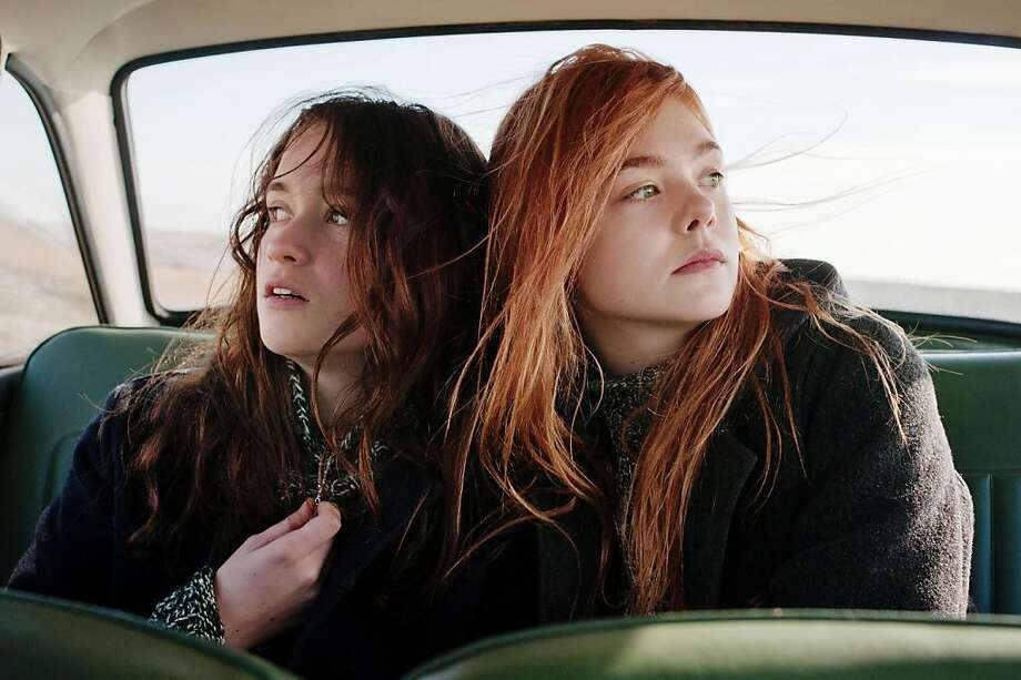 "Alice Englert and Elle Fanning: Teens facing crises during unsettling times in ""Ginger and Rosa."" Photo: Nicola Dove"