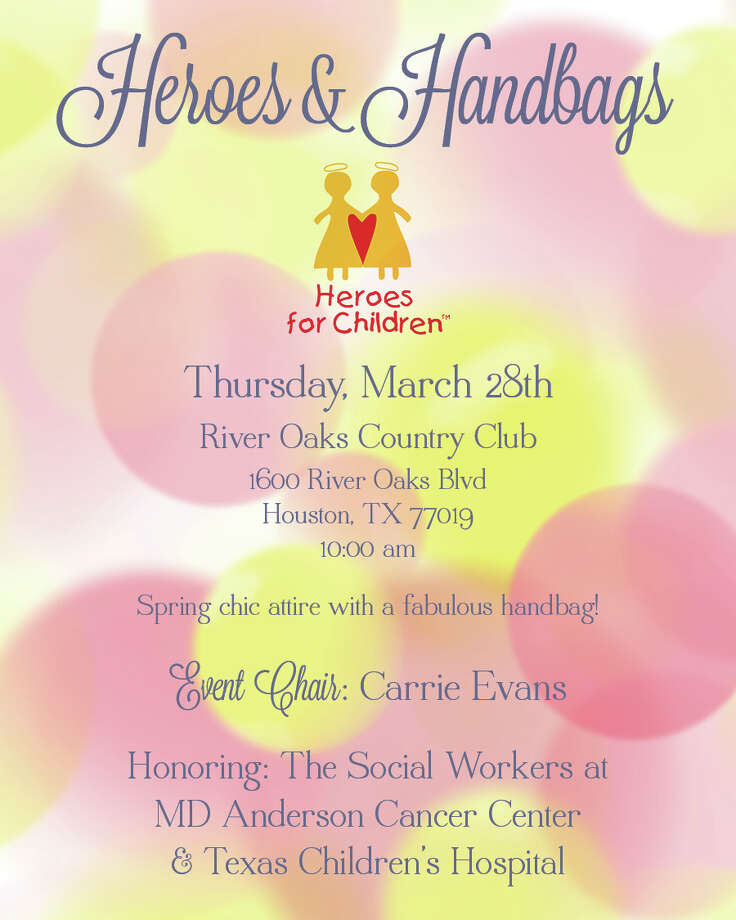 The Heroes and Handbags Luncheon takes place this Thursday at the River Oaks Country Club.