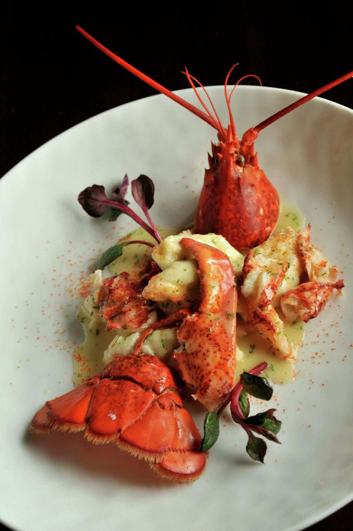 Butter poached lobster with sheep's milk ricotta gnocchi from Restaurant R'evolution.