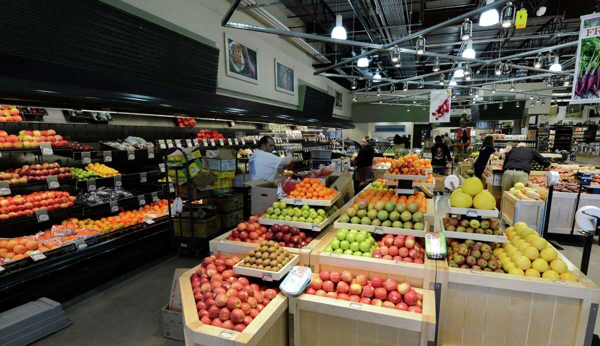 The produce area of the new Healthy Living market and cafe March 20, 2013 which opens for business tomorrow at the Wilton Mall in Wilton, N.Y. (Skip Dickstein/Times Union)