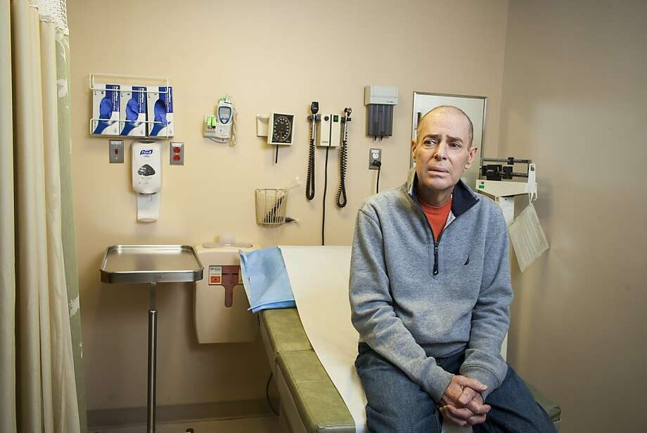 David Aponte, who took part in a study that used his own T-cells to treat leukemia, which went into remission eight days after the treatment, in an exam room at Memorial Sloan-Kettering Cancer Center in New York, March 19, 2013. The treatment is experimental and has been used in only a small number of patients, but cancer experts consider it a highly promising approach for a variety of cancers. (Michael Nagle/The New York Times) Photo: Michael Nagle, New York Times