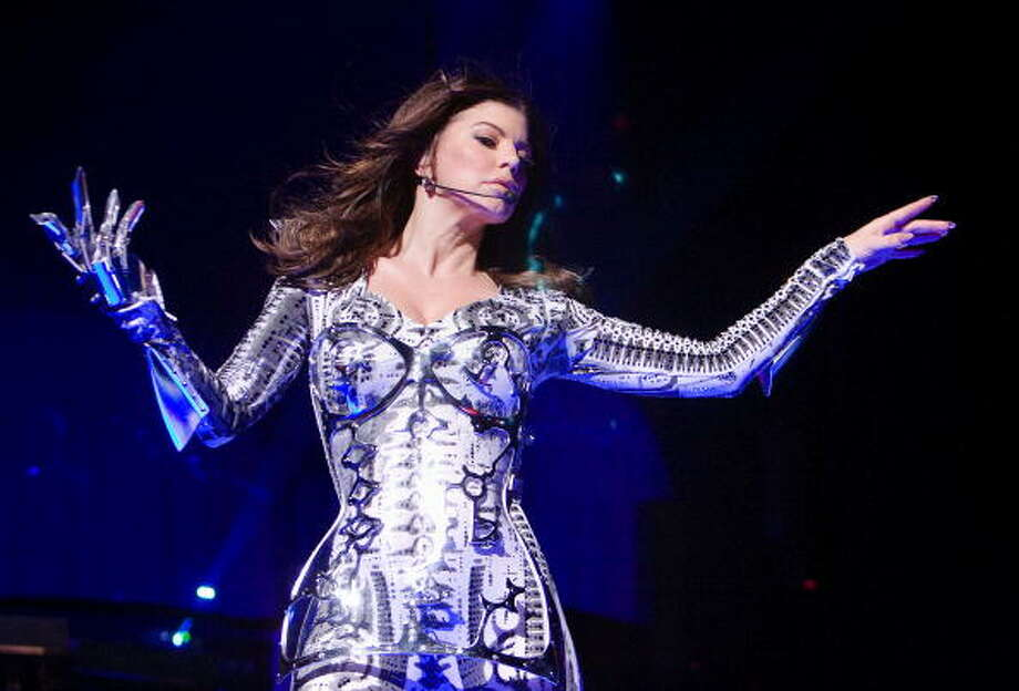 Plus, music stars like to dress up as robots from time to time. Here, Fergie of Black Eyed Peas performs at the Jerome Schottenstein Center on February 16, 2010 in Columbus, Ohio. Photo: Scott Legato, Getty / 2010 Scott Legato