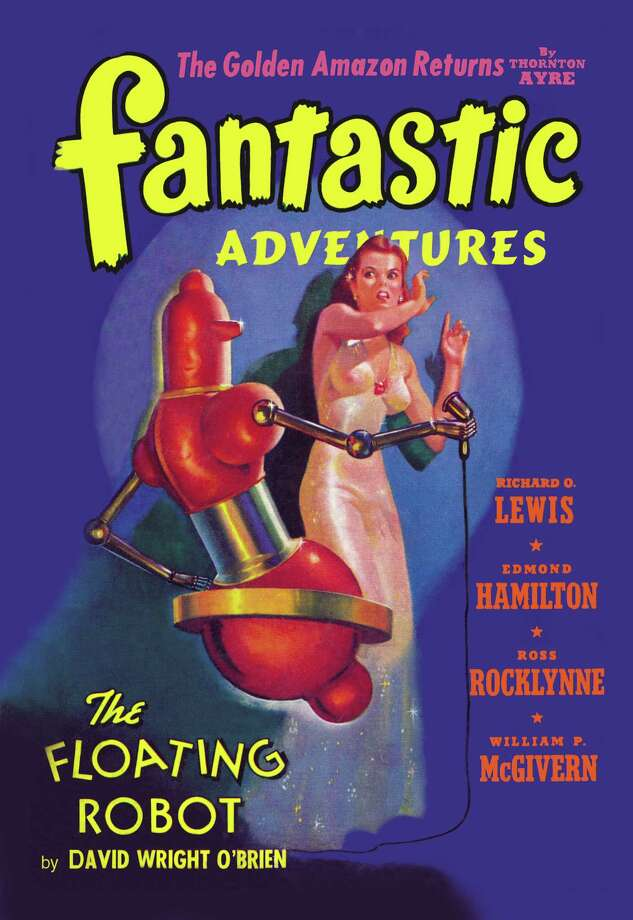 Fantastic Adventures: Floating Robot and Woman Photo: Buyenlarge, Getty / Archive Photos