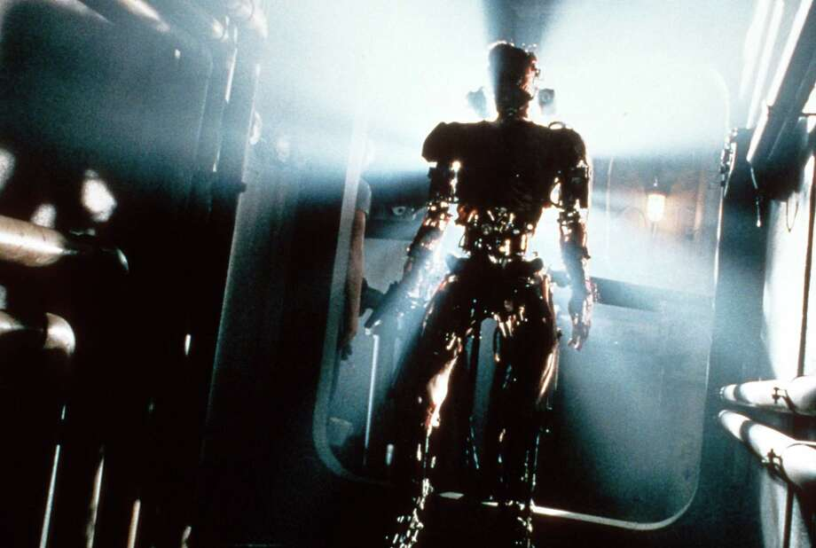 Robots have often provided the menacing muscle (and sometimes a helpful hand) in our modern vision of what the future with robots will be like. Here, the robots come forth in a scene from the film 'Virus', 1999. Photo: Archive Photos, Getty / 2012 Getty Images