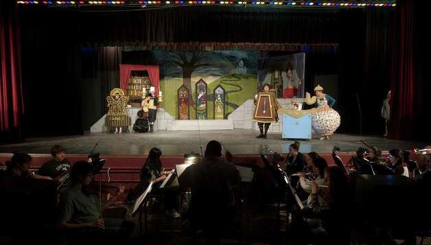"Shown here is a scene from Bethel High School's  production of Disney's ""Beauty and the Beast."" The play runs March 22, 7pm, March 23, 7pm, and March 24 at 2pm at Bethel High Schools auditorium, in Bethel, Conn. Photo: H John Voorhees III / The News-Times Freelance"