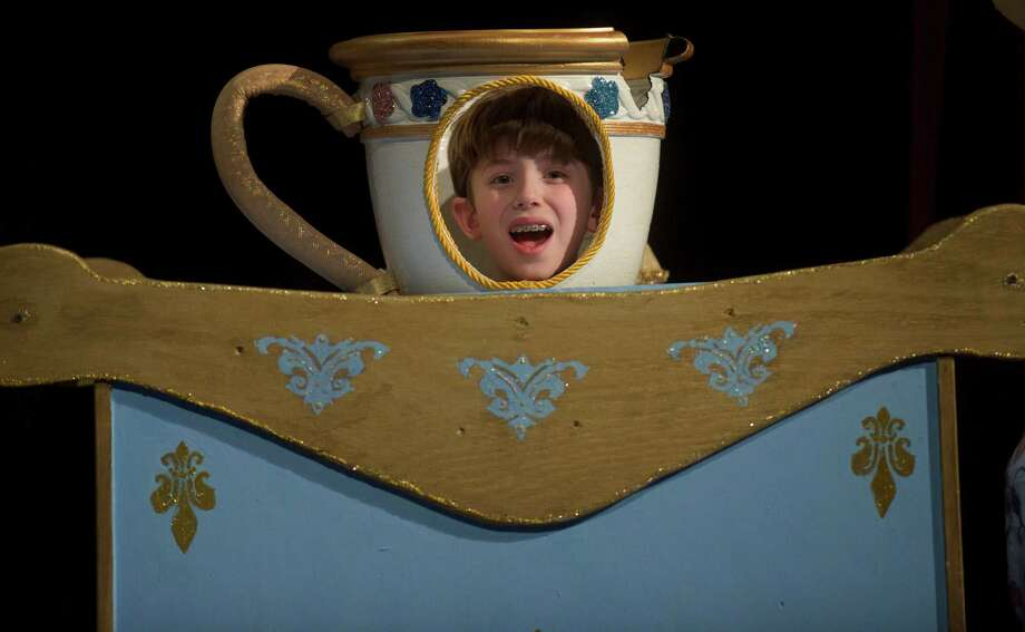 """Ten-year-old Max DiMeglio, a fourth-grader at Johnson School, Bethel, Conn., plays Chip in Bethel High School's  production of Disney's """"Beauty and the Beast"""" Photo: H John Voorhees III"""