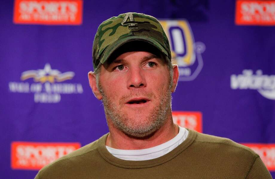 Retired NFL quarterback Brett Favre got in hot water for texting photos of his junk. Photo: Leon Halip, Getty Images / 2010 Leon Halip