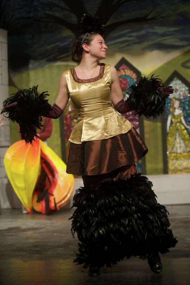 "Natalia Stifano plays Babette in Disney's ""Beauty and the Beast"" presented by Bethel High School, in Bethel, Conn. Photo: H John Voorhees III / The News-Times Freelance"