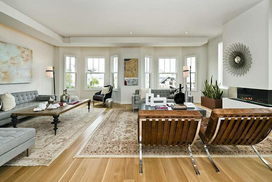 Bay windows provide additional space in the upstairs great room. Photo: Olga Soboleva/Vanguard Propertie