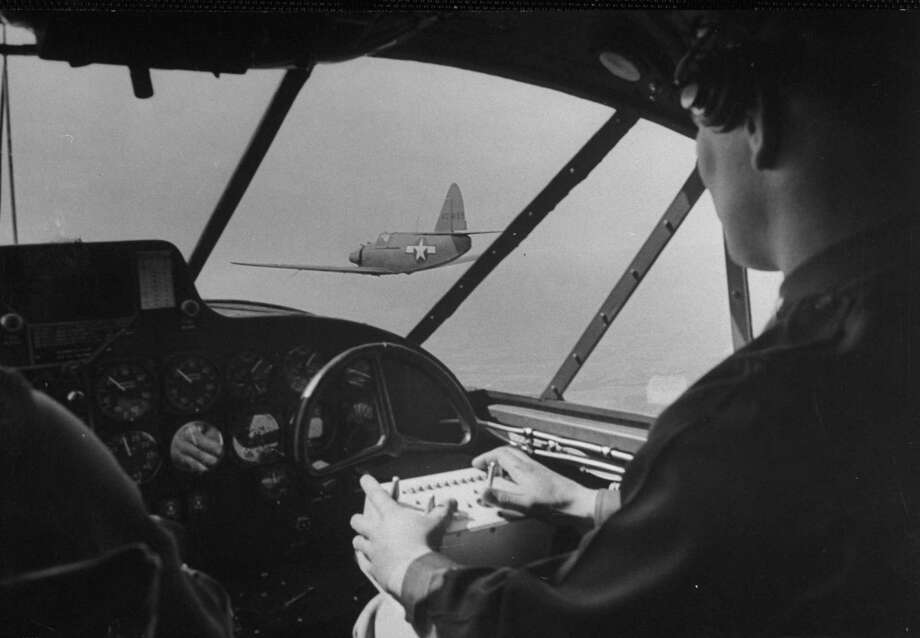 Of course, humans will use new technology to help fight wars. A US Armed Forces Robot Plane being controlled from another aircraft in it's proximity in the 1940s. Photo: Sam Shere, Getty / Time Life Pictures