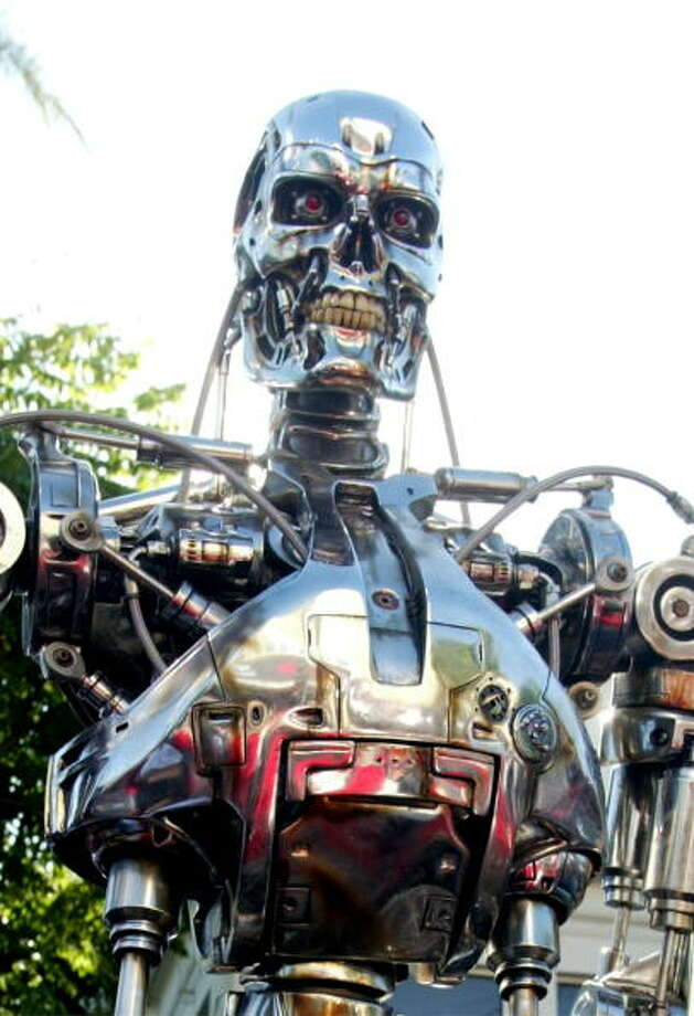 """We also carry around the seemingly instinctual fear that robots will become our worst nightmare. A robot is seen at the world premiere of """"Terminator 3: Rise of the Machines"""" at the Mann Village Theater in 2003 in Westwood, Calif. Photo: Kevin Winter, Getty / 2003 Getty Images"""