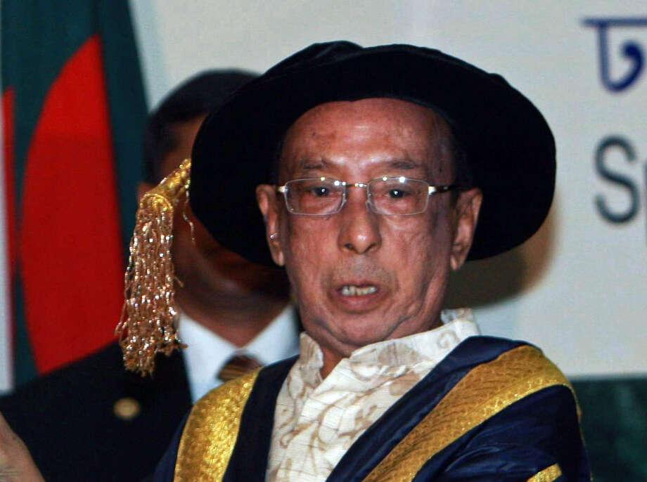 Bangladesh's President Zillur Rahman speaks at Dhaka University in 2009. Photo: File Photo / Associated Press