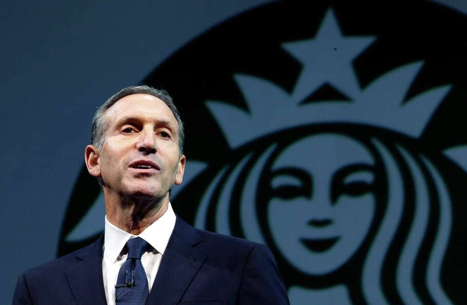 Starbucks CEO Howard Schultz speaks at the company's annual shareholders meeting, Wednesday, March 2