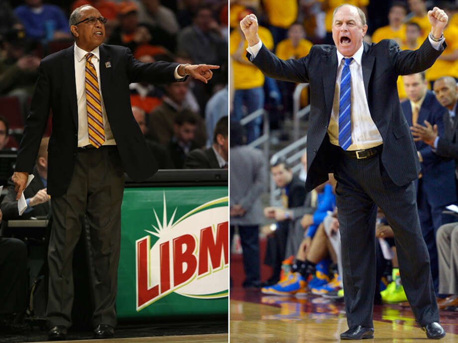 Whose seat is hotter? It's almost become a parlor game among UCLA fans to carve up the embattled Ben Howland (right) in the past few weeks (thank you very much, Bill Walton). The Bruins will start their tournament against Tubby Smith (left) of Minnesota, who similarly is feeling the heat from his own fan base. Photo: LEFT: Jonathan Daniel / Getty Images, RIGHT: Mark J. Terrill / Associated Press