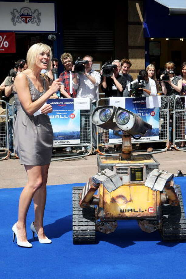 Most lovable robot ever? Jenni Falconer interviews Wall-E the robot at the UK Premiere of WALL-E at the Empire Cinema, Leicester Square on July 13, 2008 in London, England. Photo: Claire Greenway, Getty / 2008 Getty Images