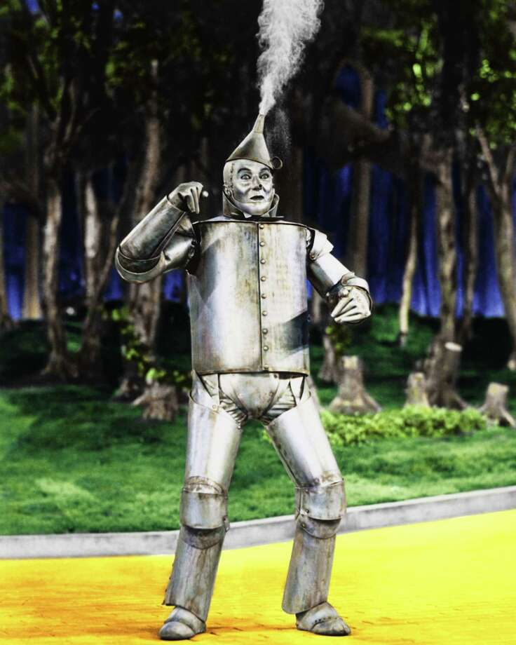 American actor Jack Haley (1898 - 1979) as Hickory/The Tin Man in 'The Wizard of Oz', 1939. Photo: Silver Screen Collection, Getty / 2006 Getty Images