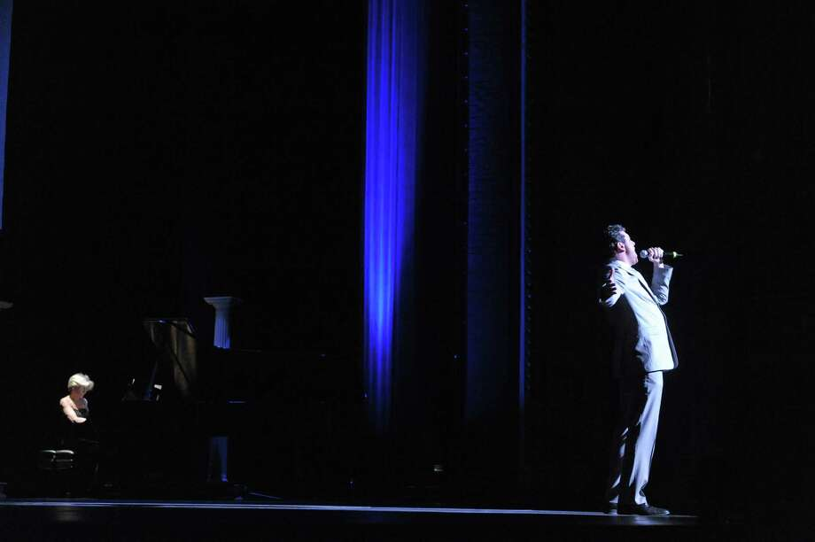 Broadway actor Bradley Dean sings during an event at Proctors to unveil the  titles for next season's Broadway series on Wednesday, March 20, 2013 in Schenectady, NY.  (Paul Buckowski / Times Union) Photo: Paul Buckowski