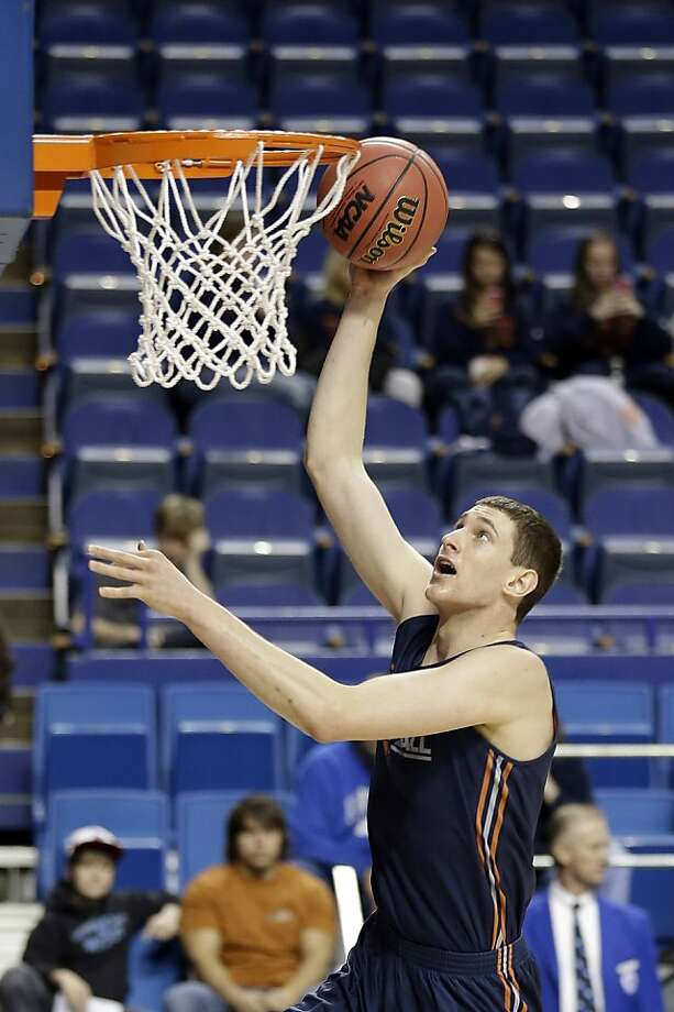Bucknell center Mike Muscala could make a name for himself this month. Photo: John Bazemore, Associated Press