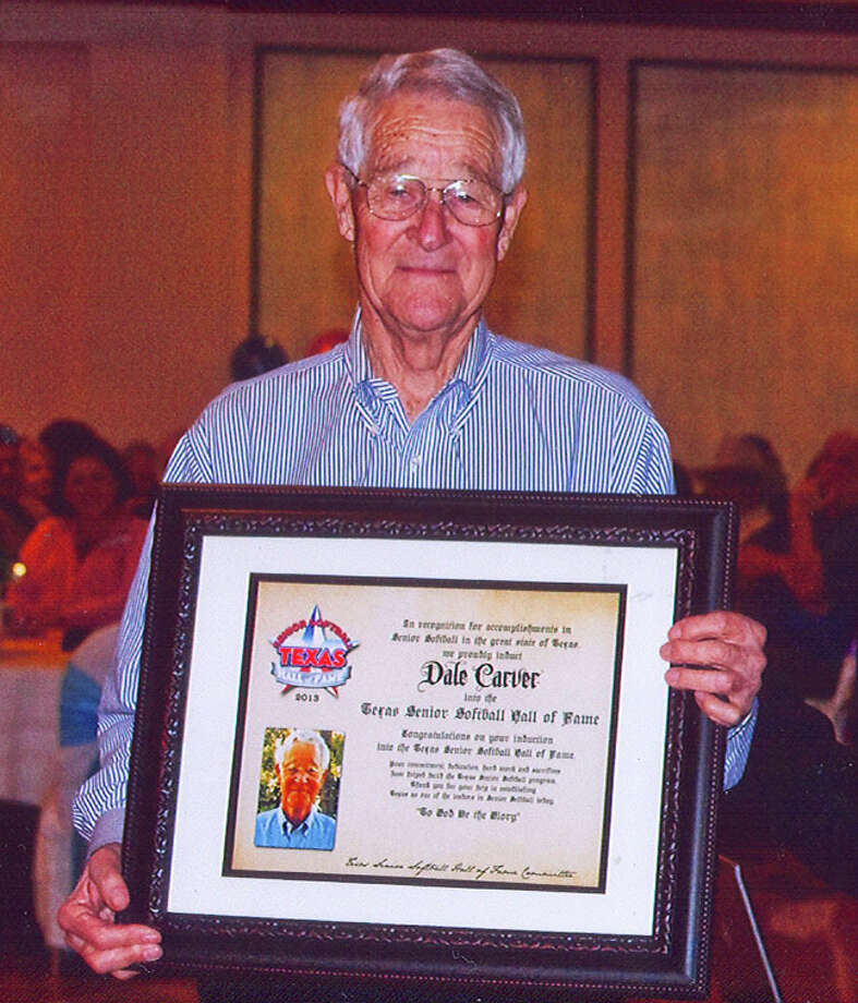 Dale Carver, 81, was inducted into the Texas Senior Softball Hall of Fame on Feb. 16 at St. Luke's Catholic Church. Photo: Courtesy Photo
