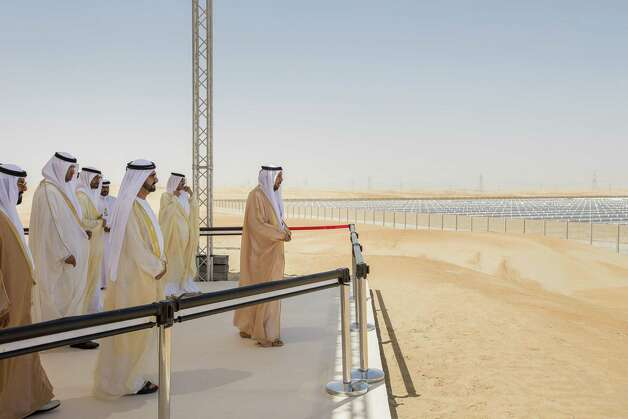 Officials in Abu Dhabi see the desert as the future home of a booming Masdar City and the center to the world's largest concentrated solar power plant.