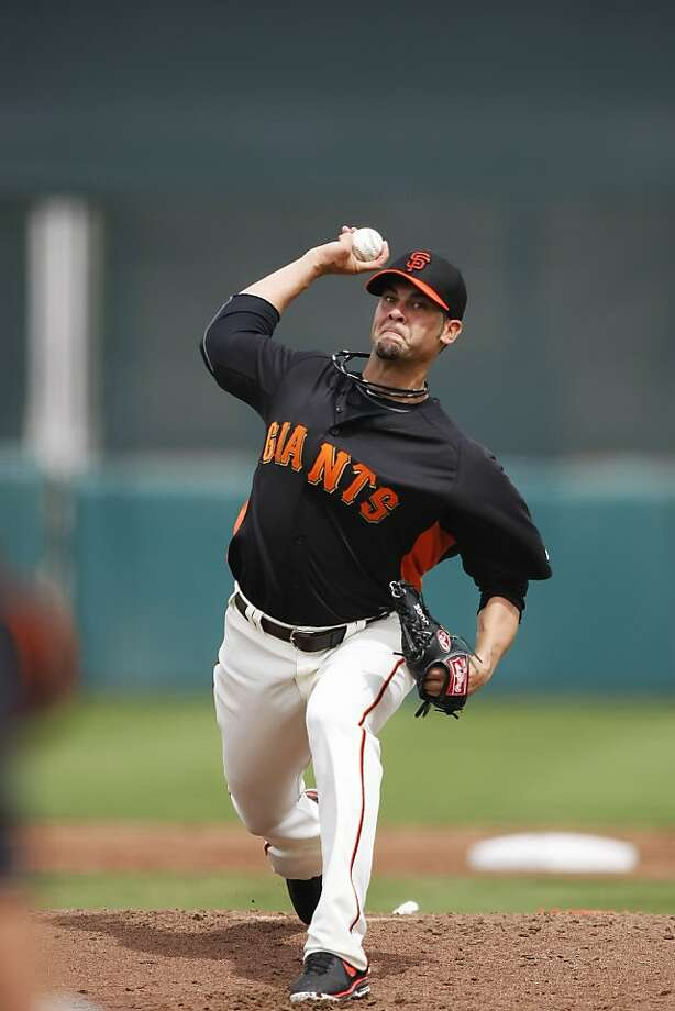 Ryan Vogelsong is in midseason - well, at least World Baseball Classic - form in six innings against Milwaukee. Photo: Pete Kiehart, The Chronicle