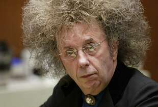 ** FILE ** Music producer Phil Spector is shown in Superior Court Monday, in this May 23, 2005 file photo, in Los Angeles. Jury selection will begin in March, 2007 in the murder trial of Spector, who's charged with killing actress Lana Clarkson in his suburban mansion, a judge said Tuesday, Jan. 16, 2007.