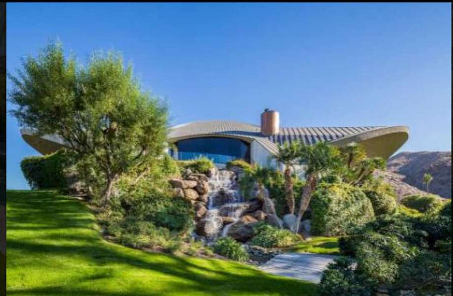 Estate rises above the desert of Palm Springs