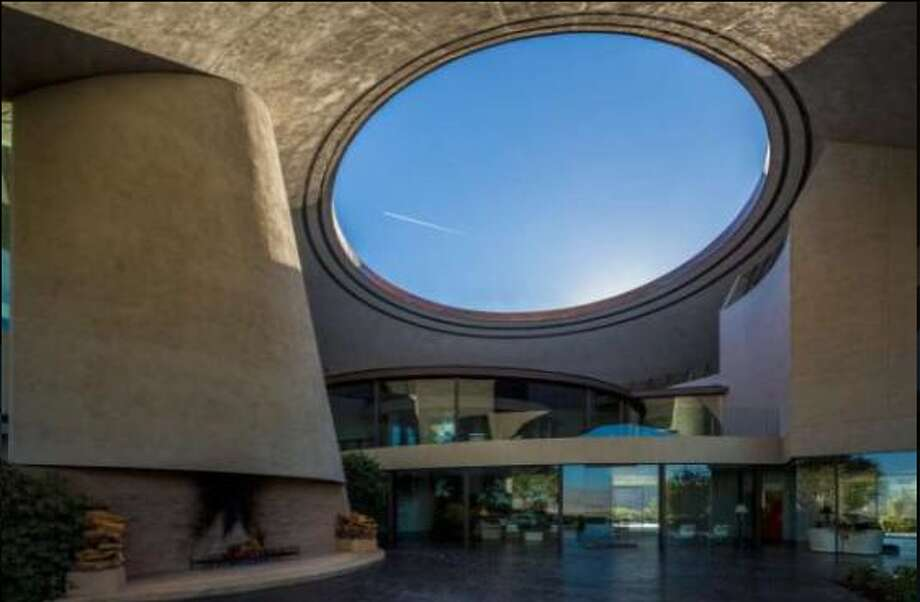 The circular opening in the copper roof