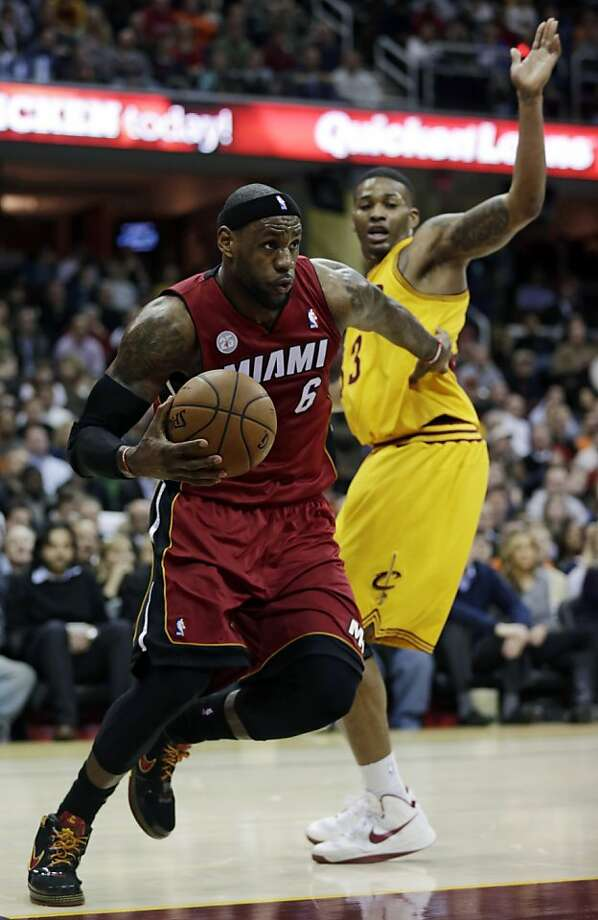 LeBron James and the Heat shoved aside the challenge by Alonzo Gee and the Cavaliers. Photo: Tony Dejak, Associated Press
