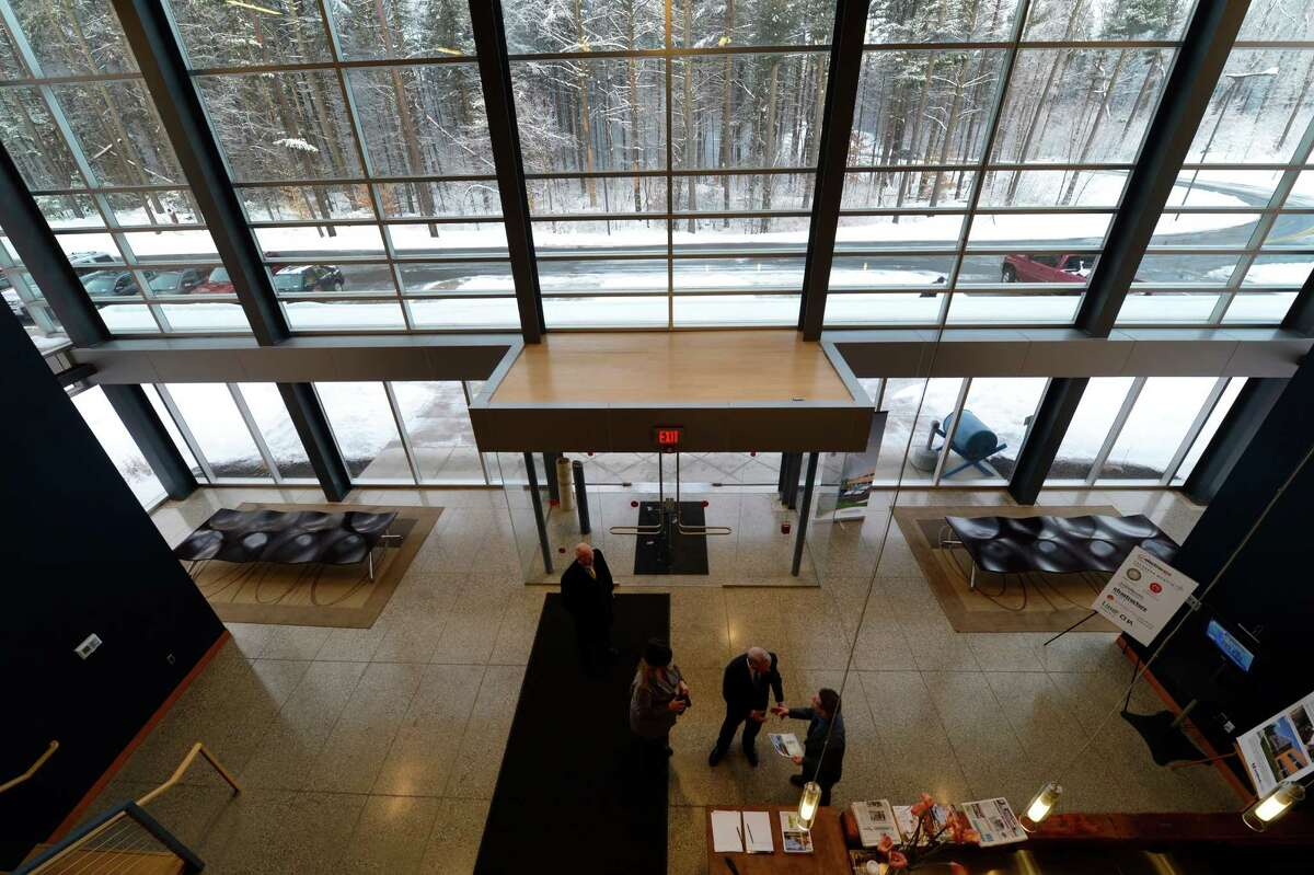 Interior view of the foyer March 20, 2013, at the STEP building at the tech park in Malta, N.Y. (Skip Dickstein/Times Union)