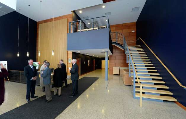 Interior view of the foyer March 20, 2013,  at the STEP building at the tech park in Malta, N.Y. (Skip Dickstein/Times Union) Photo: SKIP DICKSTEIN / 10021636A