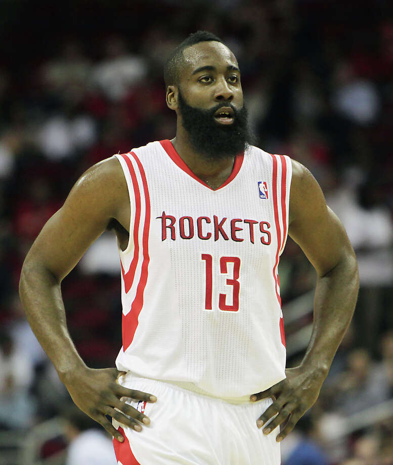 James Harden during the second quarter. Photo: James Nielsen, Houston Chronicle / © 2013 Houston Chronicle