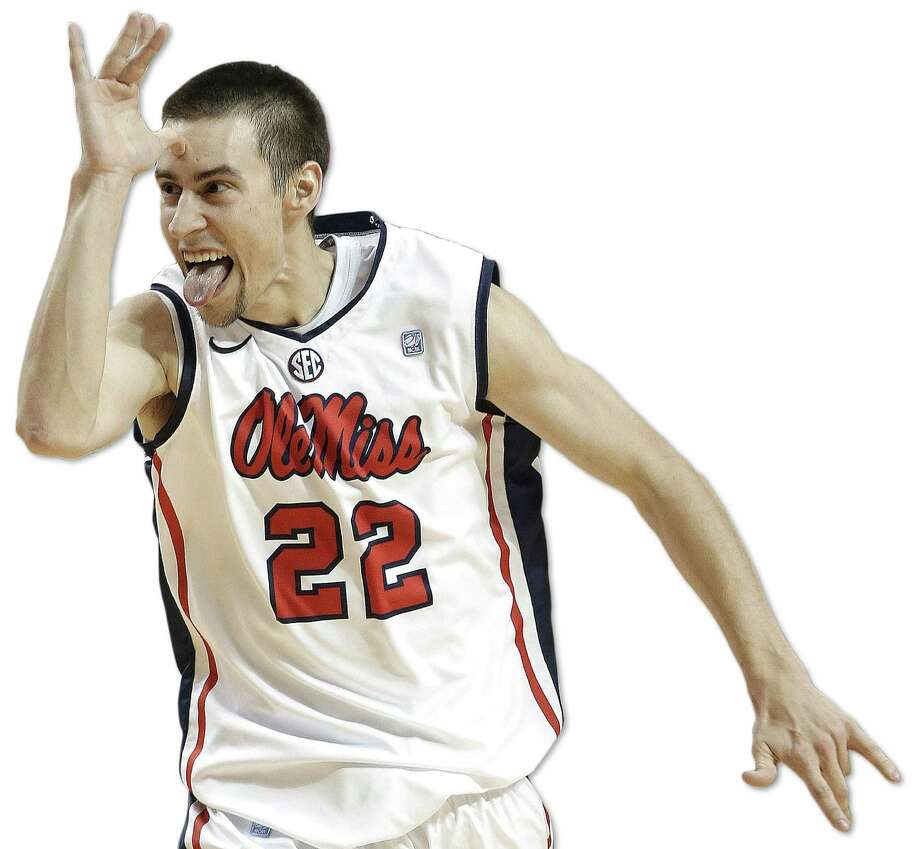 Mississippi guard Marshall Henderson may sport some unorthodox methods of celebrating good moments, but he certainly can play ball. Photo: Associated Press