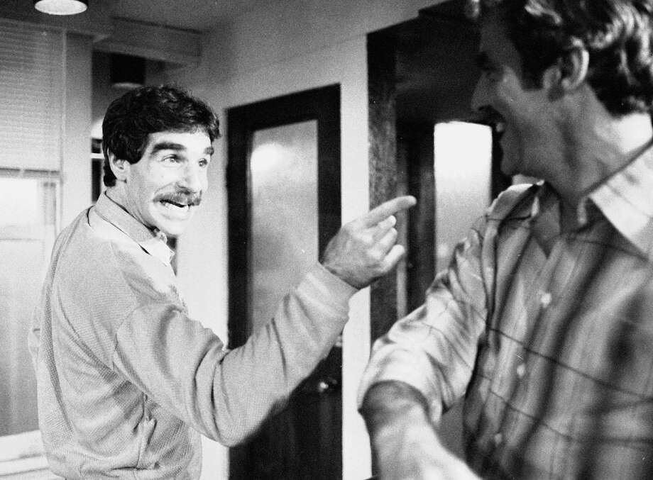 "FILE - In this Nov. 11, 1979 file photo, Harry Reems rehearses for his legitimate theater debut in an Off-Broadway comedy-drama, ""The Office Murders,"" in New York. Reems, the former porn star who co-starred in the 1972 movie ""Deep Throat,"" died Tuesday, March 20, 2013 in Slat Lake City.  He was 65. (AP Photo/Ron Frehm, File) Photo: RON FREHM"