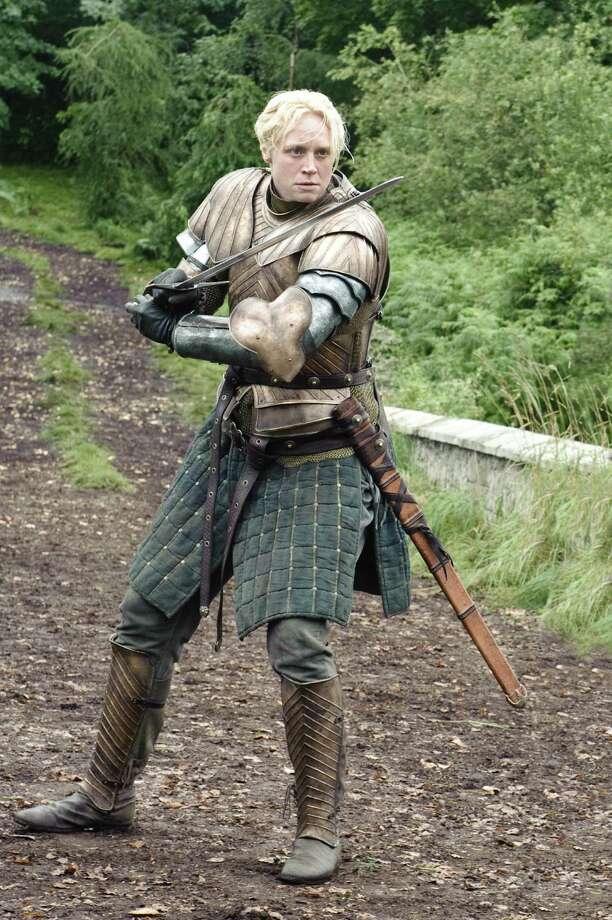 """Gwendoline Christie as """"Brienne of Tarth"""" in season 3, episode 2. Photo: Helen Sloan / Helen Sloan"""
