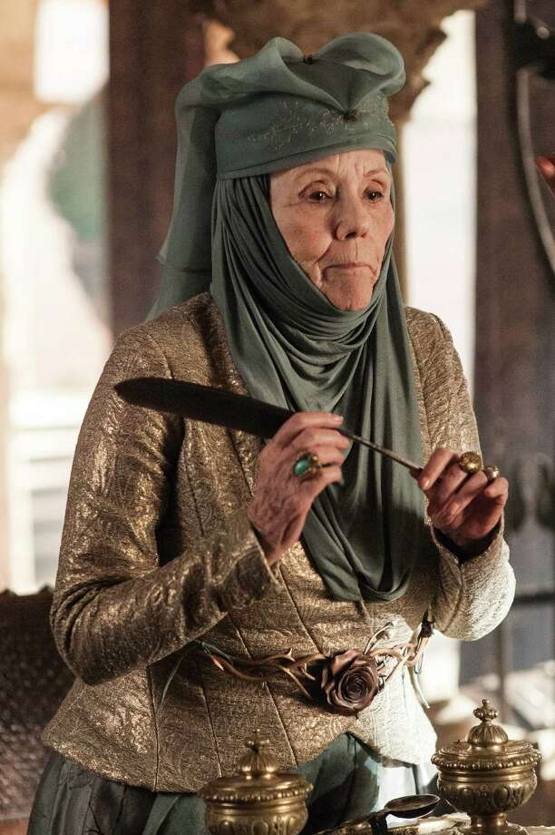 "Joining the cast this season is veteran stage and screen actress Diana Rigg as ""Lady Olenna Tyrell,"" seen here from season 3, episode 6. Photo: Helen Sloan / Helen Sloan"